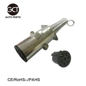 24V tipo europeo 7-Pin ROUND conector de enchufe con el resorte (Trailer SIDE)