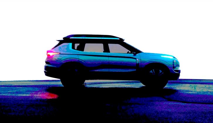 Mitsubishi Engelberg concept car re-launch map using split headlights